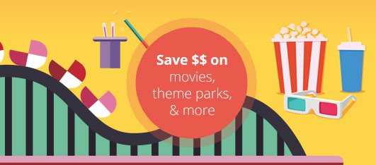 Movie and theme park entertainment discount